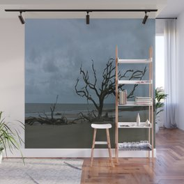 A Ghost Tree On Jekyll Island Beach Wall Mural