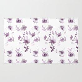 Violet Floral pattern Rug