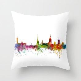 Stockholm Sweden Skyline Throw Pillow
