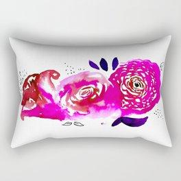 Three Purple Christchurch Roses Rectangular Pillow