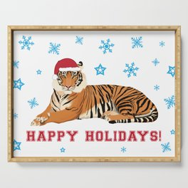 Happy Holidays Tiger Serving Tray