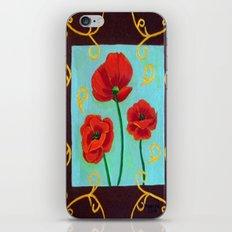 Poppies-4 iPhone & iPod Skin