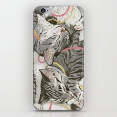 cats gold and rose iPhone & iPod Skin