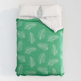 Friendly Ferns Green Comforters