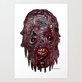 Heads of the Living Dead  Zombies: Atlantis Zombie Art Print
