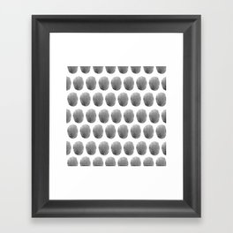Watercolour polkadot black Framed Art Print