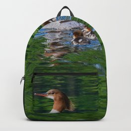 Merganser Duck Family Backpack
