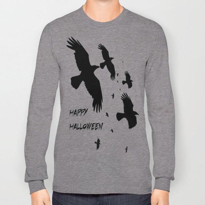 Happy Halloween Murder of Crows  Long Sleeve T-shirt