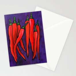 Chili Peppers Stationery Cards