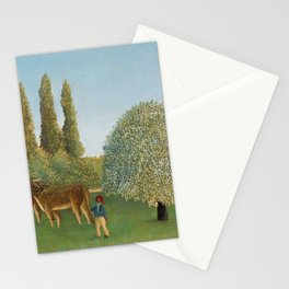 Henri Rousseau - Meadowland (The Pasture) Stationery Cards