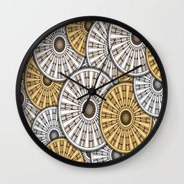Gears Round Header Banner Cog Wall Clock