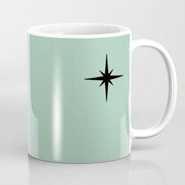 1950s Atomic Age Retro Starburst in Mint Green and Black 2 Coffee Mug