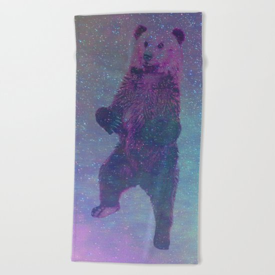 Bear Nebula (brown bear in the stars) Beach Towel