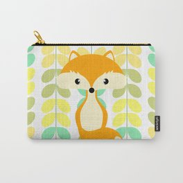 Fox and multicolored leaves Carry-All Pouch