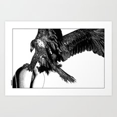 asc 636 - La fauconnière (Bird of prey) Art Print
