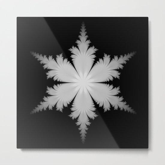 Fractal Snowflake Metal Print