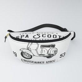 Vintage Piaggio Scooter 1953 125cc T Shirt Original Design Fanny Pack