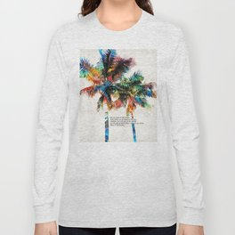 Colorful Palm Trees - Returning Home - By Sharon Cummings Long Sleeve T-shirt
