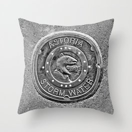 Astoria Storm Water, Monotone Throw Pillow