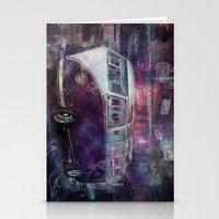 volkswagon Stationery Cards featuring Night time Camper by yairi