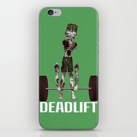 crossfit iPhone & iPod Skins featuring Crossfit Zombie by RonkyTonk doing Deadlift by RonkyTonk