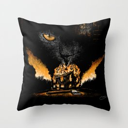 """The Black Cat"" - Edgar Allan Poe Series Throw Pillow"
