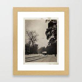 forest tram Framed Art Print