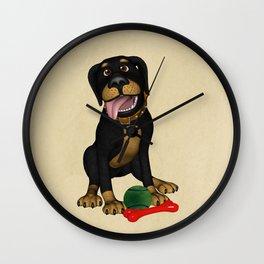 The friendly dog Wall Clock