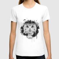 scandinavian T-shirts featuring Scandinavian Owl by Le Dous