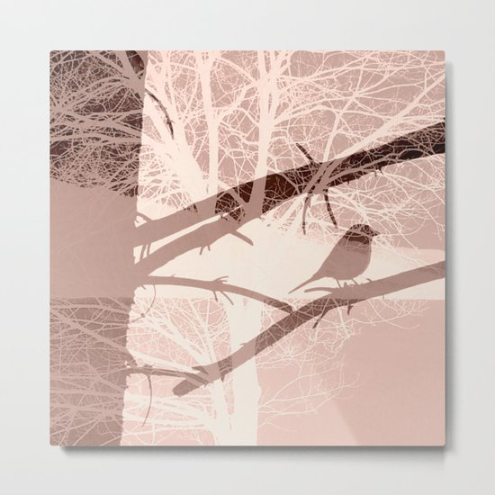 Bird tree Metal Print