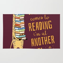 When it Comes to Reading I'm at Another Level - Giraffe Rug
