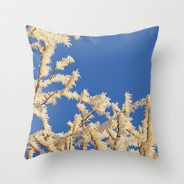 Frosted Trees Winter Throw Pillow