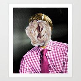 Das neue Haarwuchsmittel wirkt... Art Print