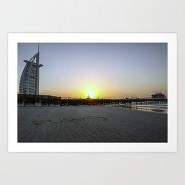 Sunset at the Burj al Arab Art Print