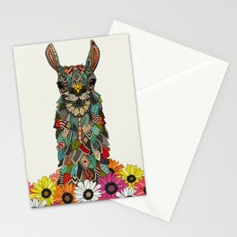 llama daisy love chalk Stationery Cards