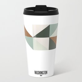 Geometric Washington Metal Travel Mug