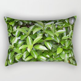 Green glossy leaves Rectangular Pillow