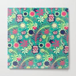 Tropical Flower Fiesta Metal Print