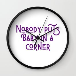 In a Corner Wall Clock