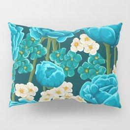 Floral Nightscape I Pillow Sham