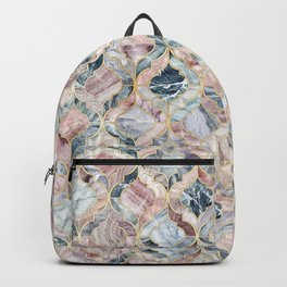 Marble Moroccan Tile Pattern Backpack