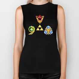 The Timeless Legend of Zelda Inspired Spiritual Stones Biker Tank