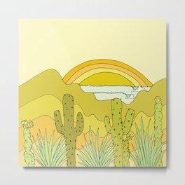 desert vibes wave visions // retro surf art by surfy birdy Metal Print