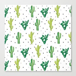 Cactus Print Canvas Print