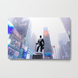 Snowy Times Square, NYC Metal Print