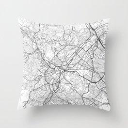 Sheffield Map Throw Pillow