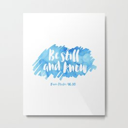 Bible quote sky color Metal Print