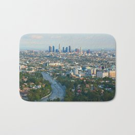 Los Angeles Skyline and Los Angeles Basin Panorama Bath Mat
