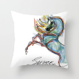 Dreamer's Horse Throw Pillow