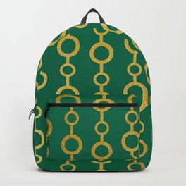 Gold chains pattern Backpack